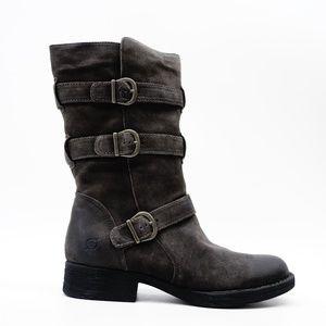New Born Ivy Womens Boots In Dark Gray